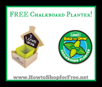 FREE Chalkboard Planter on May 5th (Registration Opens 4/25)