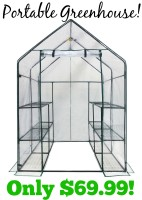 $70 Portable Greenhouse~Grow Your Own Produce!