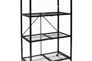 Steel 4-Shelf Unit on Wheels ~ $85 Shipped! 6 Hours Left!