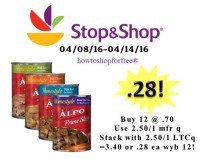Alpo Canned Dog Food only .28 at Stop & Shop!
