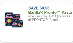 New Barilla Pasta Coupon!!