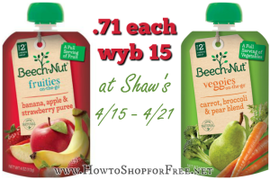 .71 Beech-Nut Pouches @ Shaw's—No Coupons Needed!