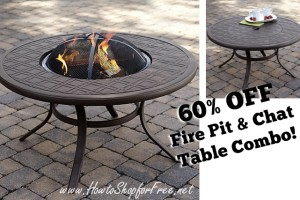 Fire Pit/Chat Table ONLY $140! (Save $210)