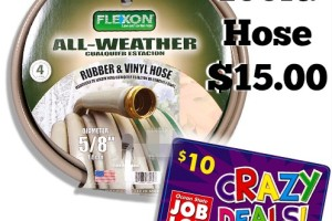 Get a 100ft. Garden Hose for $15 ($25 value)