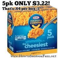 Kraft Mac & Cheese ONLY .64/box @ Target!