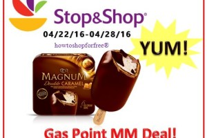 8.25 Gas Point MM on Magnum Ice Cream at Stop & Shop!