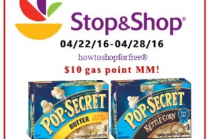 Pop Secret Popcorn Gas point MM at Stop & Shop!!!!