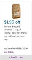 New 1.95 Purina Beyond Cat Food Coupon!