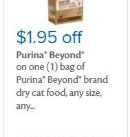 New 1.95 Purina Beyond Cat Food Coupon!
