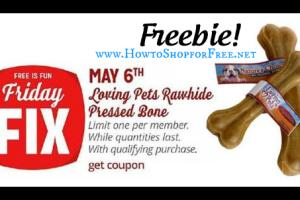FREE Loving Pets Pressed Rawhide Bone @ Kmart!