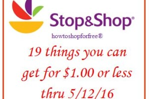 19 things for less than $1.00 at Stop & Shop!