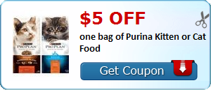 HOT $5/1 Purina Pro Plan Cat Food Coupon!