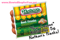 BOGO for 5¢ Nathan's Franks Coupon! WOW!
