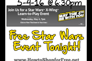 Free Star Wars Learn-to-Play Event *TODAY*