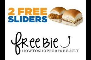 May 15th: Two Free Sliders at White Castle!