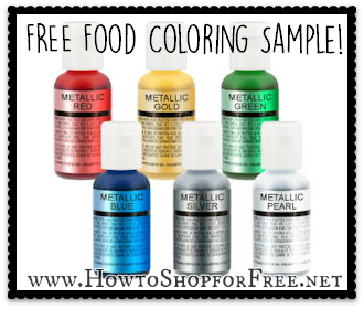 Food Coloring Sample | How to Shop For Free with Kathy Spencer