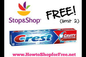 FREE Crest Toothpaste @ Stop & Shop (5/6-12)