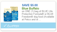 HOT $5/1 Blue Buffalo Dog Food