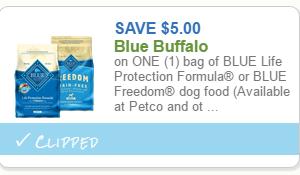 HOT $5/1 Blue Buffalo Dog Food