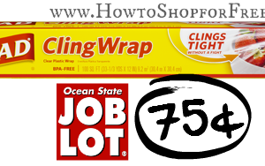 75¢ Glad ClingWrap at Ocean State Job Lot