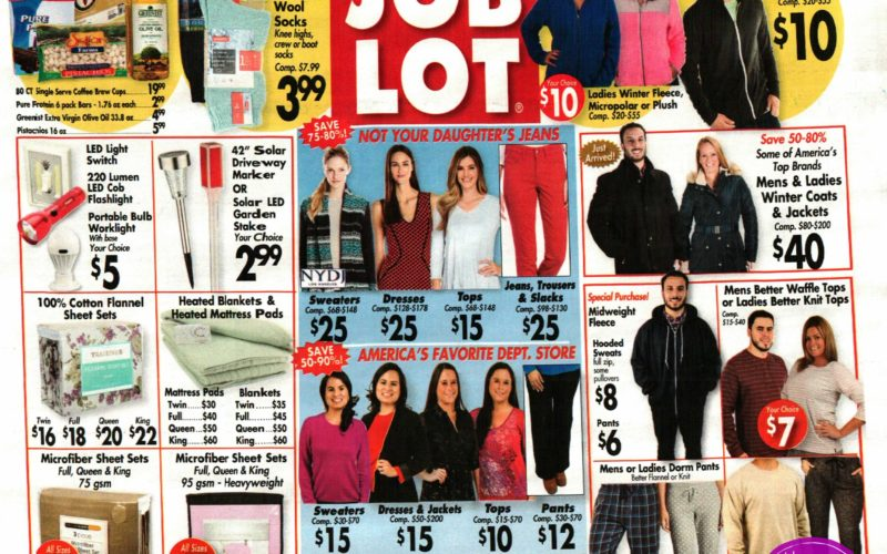 Job Lot Shoppers.. We have the NEW Ad! (9/21-27)