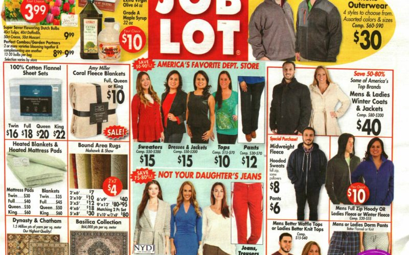 Job Lot Shoppers… EARLY AD!!!