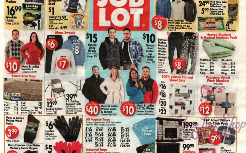 NEW Job Lot Ad Scan + Veteran's Discount Starts 11/09!