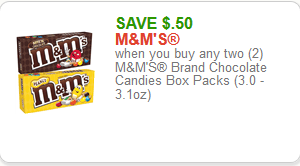 .50/2 M&M's Theatre Box Candy—Time for Movie Night!