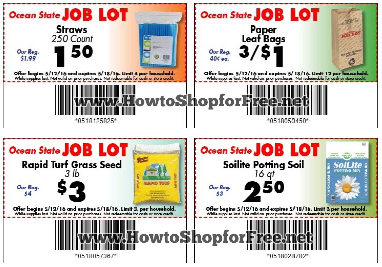 picture regarding Ocean State Job Lot Coupons Printable identified as Activity Whole lot Qs 5/12-18 How in direction of Retail store For No cost with Kathy Spencer