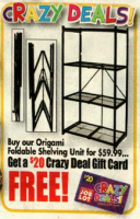 OSJL Crazy Deal on Foldable Shelving Unit!!