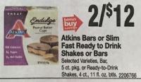 $3 Atkins Bars/Shakes at Stop & Shop (5/13-19)