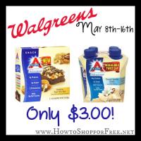 $3 Atkins Bars & Shakes at Walgreen's (5/8-16)