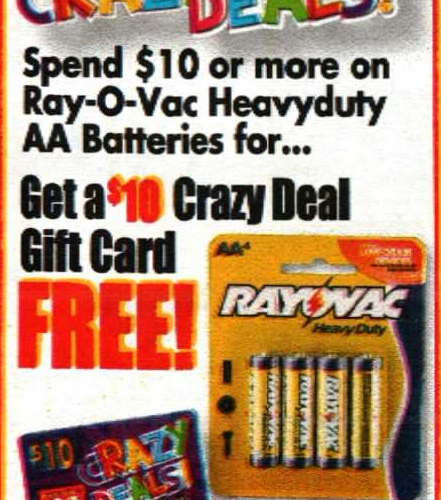 Stock Up on Batteries at 07¢ per pack!!! (10/12-18)