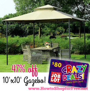 10u0027x10u2032 Gazebou2014Only $90 @ Ocean State Job Lot & $90 Gazebo @ OSJL! | How to Shop For Free with Kathy Spencer