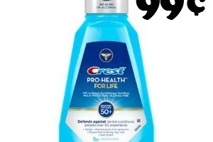99¢ Crest Mouthwash at Walgreen's 5/29-6/4
