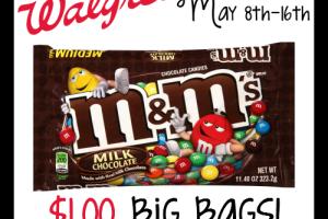 $1.00 M&M's—Big Bags! @ Walgreen's (5/8-16)
