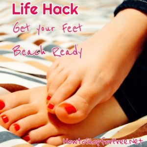 Get Your Feet Beach Ready with this 15 Minute Life Hack