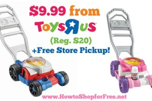 $10 Fisher-Price Bubble Mowers +Free Store Pickup!
