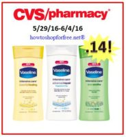 Vaseline Intensive Care Lotion only .14 at CVS!