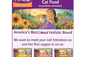 Free Can of Halo Cat Food—Available until 6/30