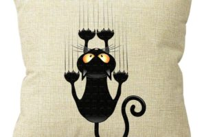$2.59 SHIPPED—Climbing Cat Throw Pillow Case