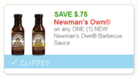 ****HOT Doubler**** Newman's Own BBQ Sauce