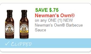 ****HOT Doubler**** Newman's Own BBQ Sauce