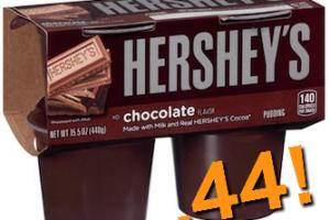 .44 Hershey Pudding 4pk @ Stop & Shop