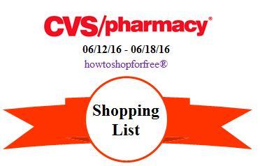 cvs shopping list