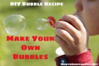DIY  Bubble Recipe