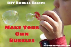 DIY  Bubble Recipe