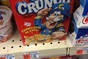 Cap'N Crunch Cereal just 33¢ a Box at CVS