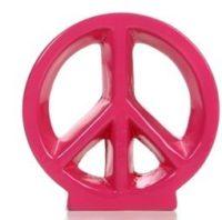 $9.00 Pink Ceramic Peace Sign, Cute Dorm Decor (was $13)