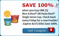 SavingStar: FREE Single-Serve Rice or Pasta-Roni Cup!